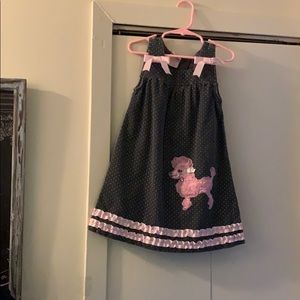 Poodle Dress Size Girls 5 Pre Owned Condition